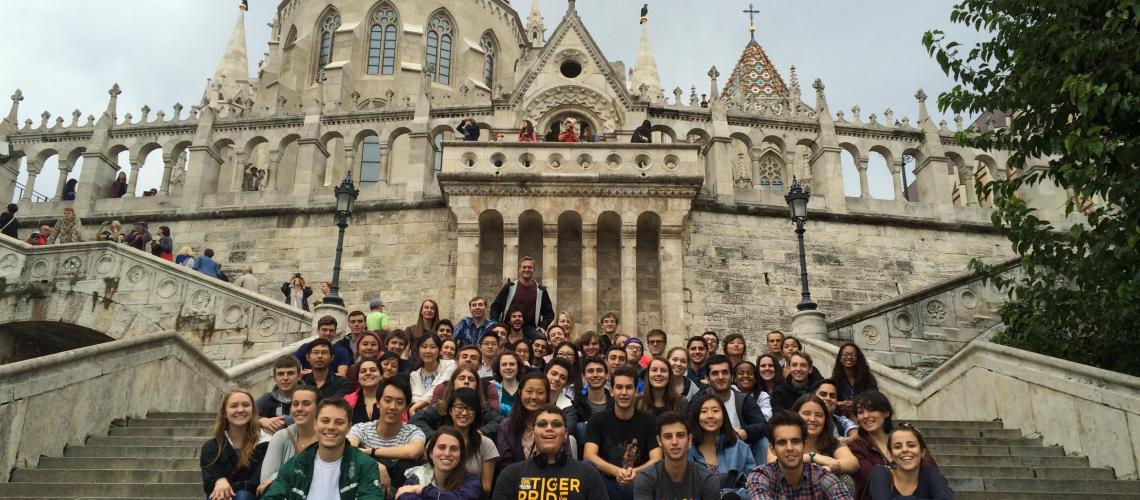 Group Photo at the Buda Castle
